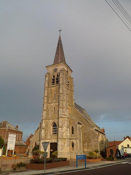 Photo du Monument Historique Eglise Saint-Martin situé à Marquette-en-Ostrevant