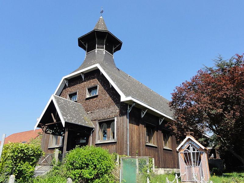 Photo du Monument Historique Eglise Sainte-Cécile de la cité du Pinson situé à Raismes
