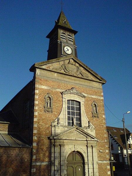 Photo du Monument Historique Eglise Saint-Thomas-de-Cantorbery, au hameau de la Motte-au-Bois situé à Morbecque