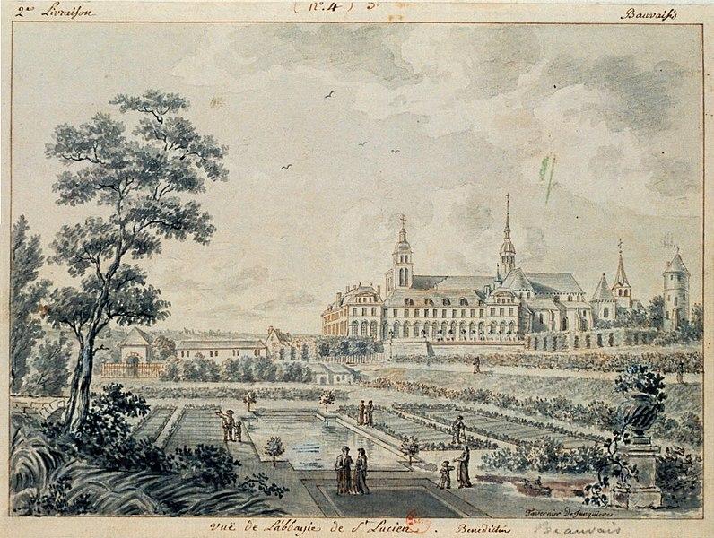 Photo du Monument Historique Ancienne abbaye Saint-Lucien, à Notre-Dame-du-Thil situé à Beauvais
