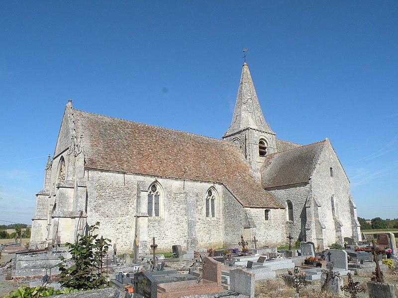 Photo du Monument Historique Eglise et son cimetière situé à Boubiers
