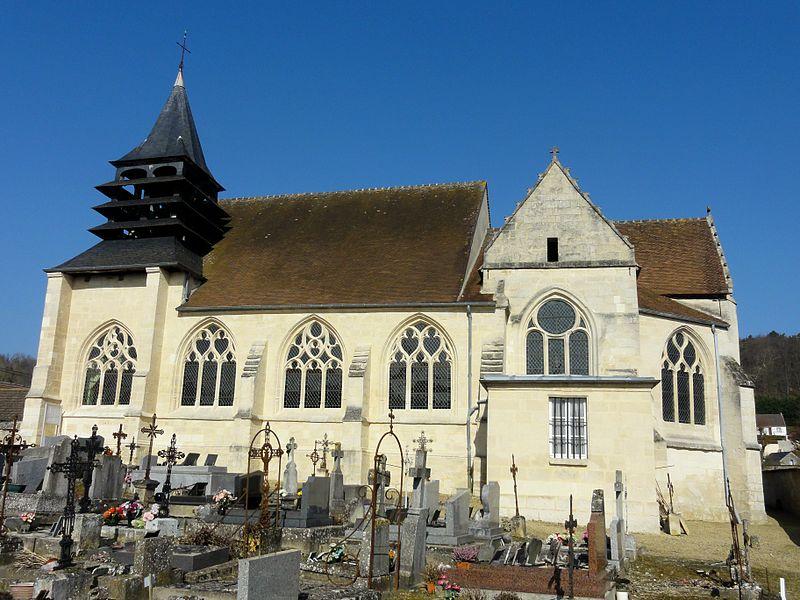 Photo du Monument Historique Eglise et cimetière qui l'entoure situé à Gilocourt