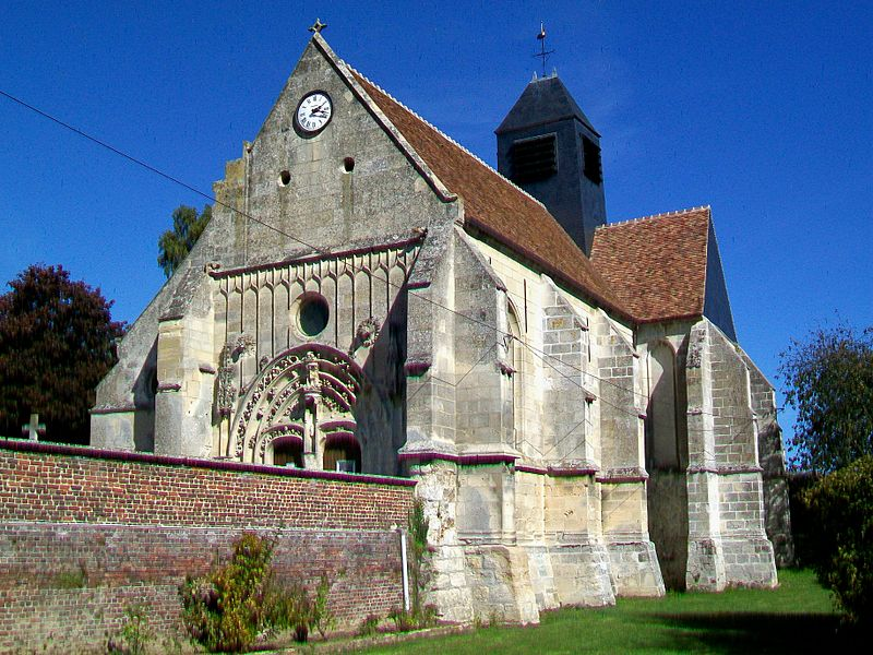 Photo du Monument Historique Eglise et le cimetière y attenant situé à Rivecourt