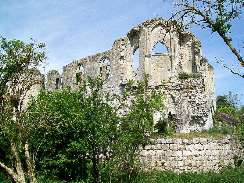 Photo du Monument Historique Ruines du château situé à Thiers-sur-Thève