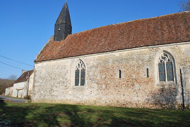 Photo du Monument Historique Ancienne église de Courthioust situé à Colonard-Corubert