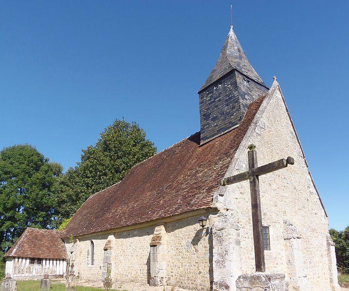 Photo du Monument Historique Eglise Saint-Saturnin-des-Ligneries situé à Ecorches