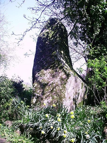 Photo du Monument Historique Menhir du Perron situé à Passais