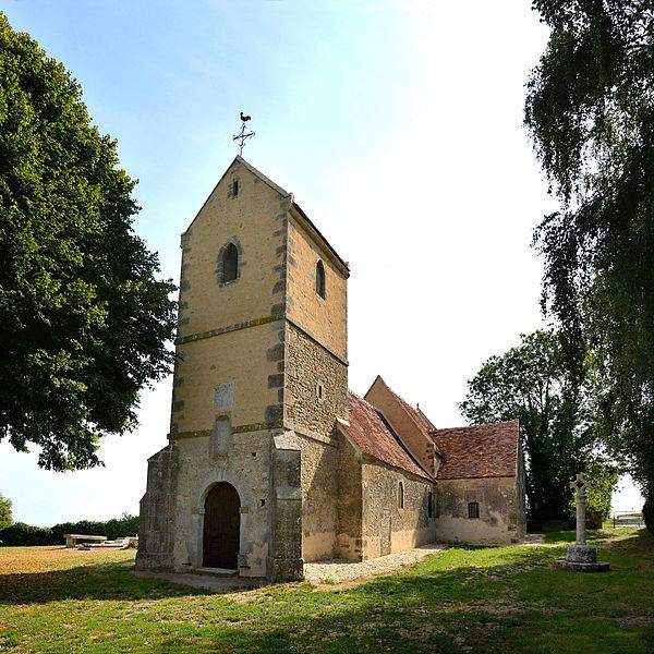 Photo du Monument Historique Ancienne église de Clairay situé à Belfonds