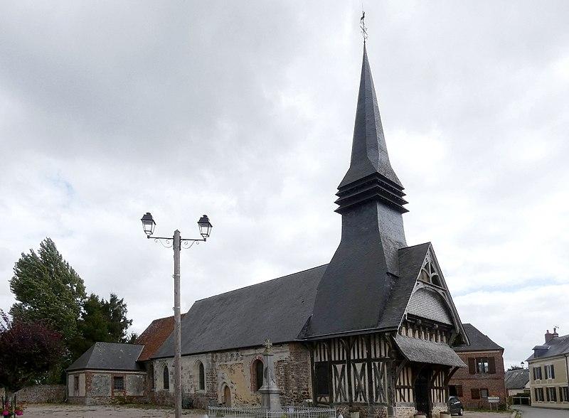 Photo du Monument Historique Eglise Saint-Aubin situé à Saint-Aubin-de-Bonneval