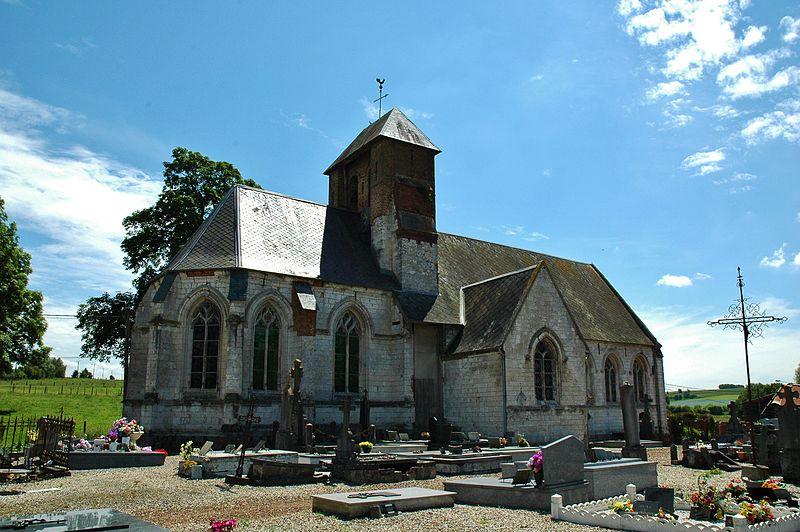 Photo du Monument Historique Eglise de Wamin situé à Estrée-Wamin
