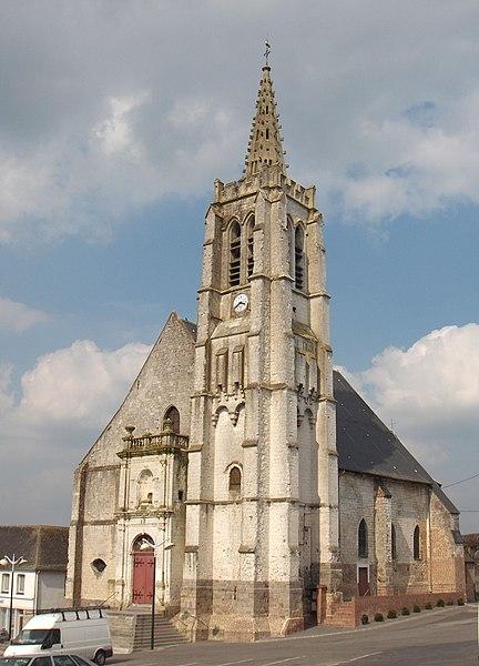 Photo du Monument Historique Eglise Saint-Léger situé à Fauquembergues