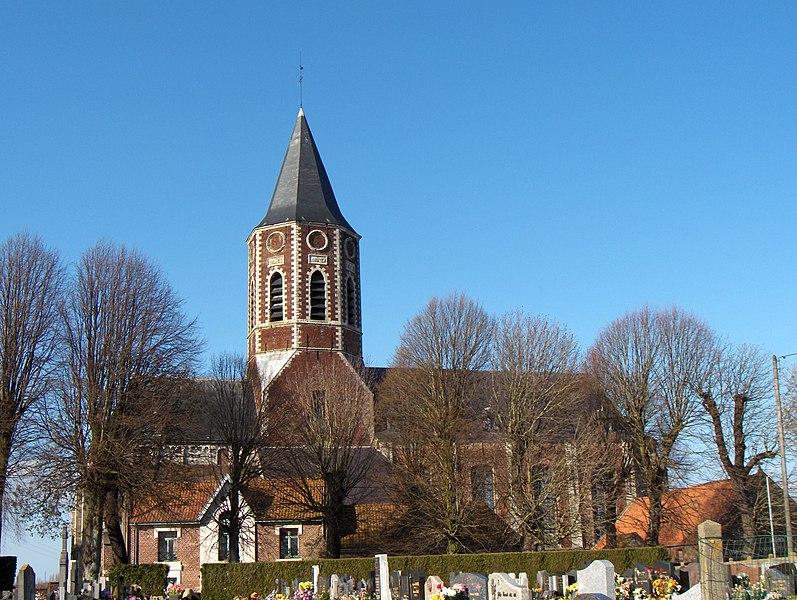 Photo du Monument Historique Eglise Saint-Sauveur situé à Ham-en-Artois