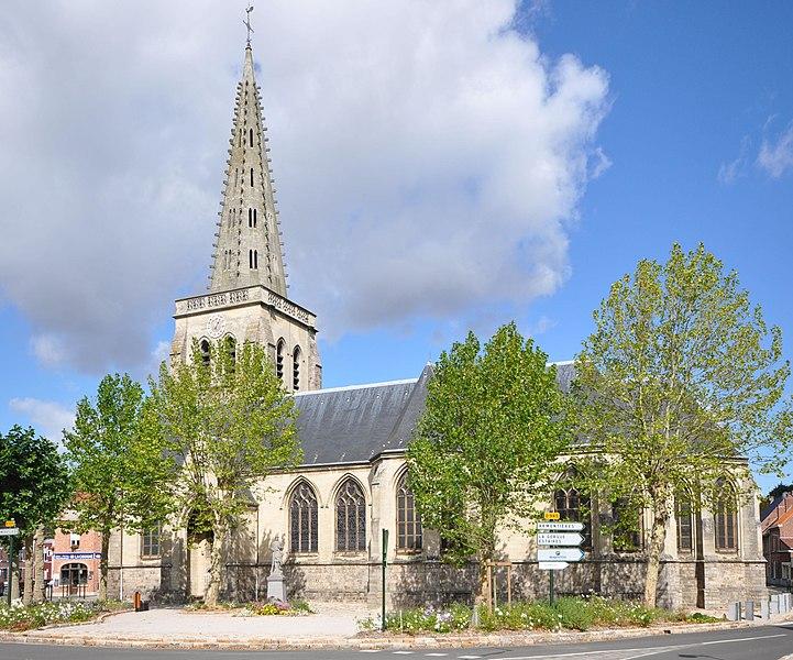 Photo du Monument Historique Eglise Saint-Amé situé à Lestrem