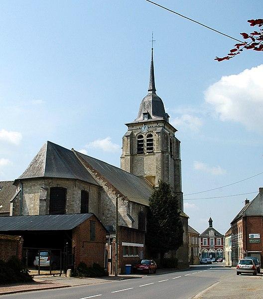 Photo du Monument Historique Eglise Saint-Martin situé à Pas-en-Artois