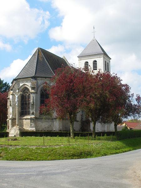 Photo du Monument Historique Eglise Saint-Vaast situé à Rebreuviette