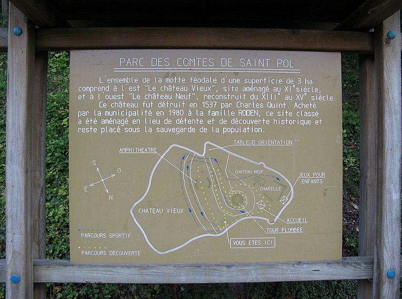 Photo du Monument Historique Château-Neuf et Vieux-Château situé à Saint-Pol-sur-Ternoise