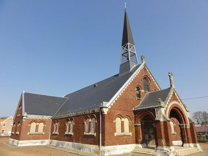 Photo du Monument Historique Eglise Saint-Louis de la cité n° 5 de la compagnie des mines de Béthune situé à Grenay