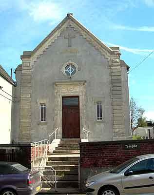 Photo du Monument Historique Temple protestant situé à Wanquetin