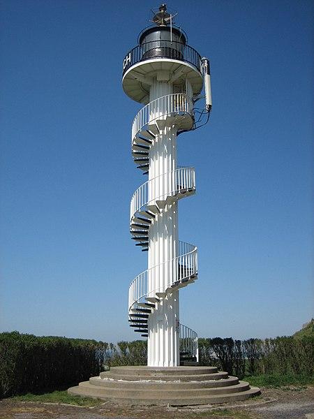 Photo du Monument Historique Phare de la pointe d'Alprech, situé au bout de la rue du Cap situé à Le Portel