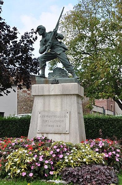 Photo du Monument Historique Monument aux morts de la guerre de 1870-1871 situé à Montreuil