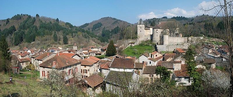 Photo du Monument Historique Château situé à Châteldon