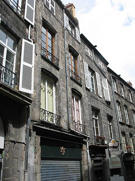 Photo du Monument Historique Ancien hôtel Vachier situé à Clermont-Ferrand