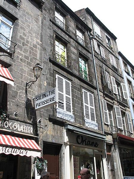 Photo du Monument Historique Immeuble situé à Clermont-Ferrand