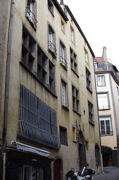 Photo du Monument Historique Maison du 15e siècle situé à Clermont-Ferrand