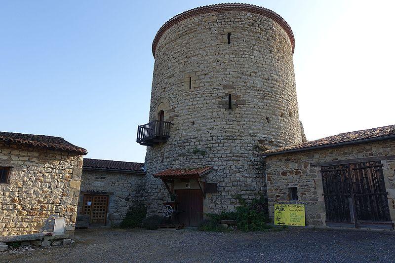 Photo du Monument Historique Donjon situé à Espirat