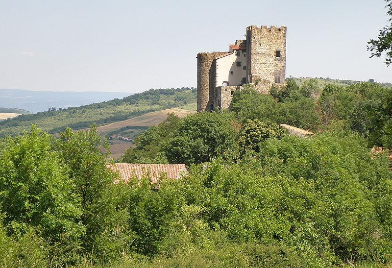 Photo du Monument Historique Ruines du château fort situé à Montaigut-le-Blanc