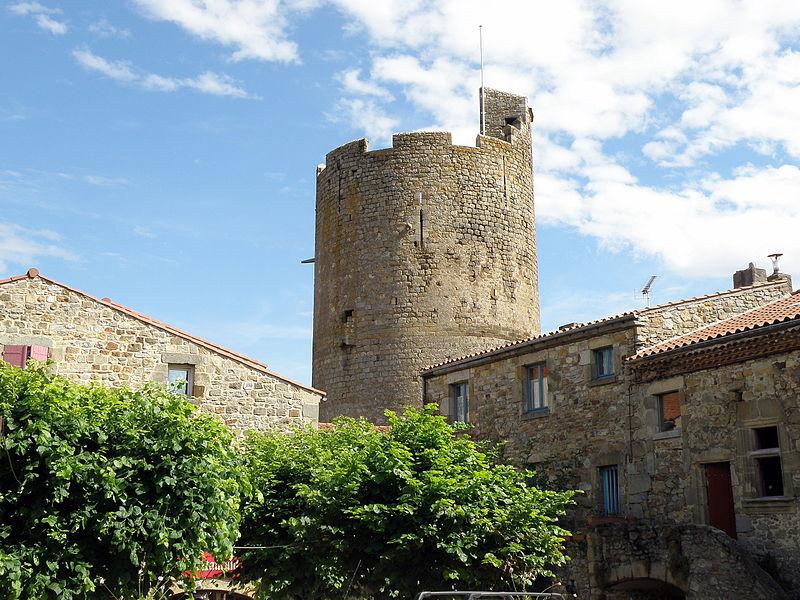 Photo du Monument Historique Ruines de la tour du château fort situé à Montpeyroux