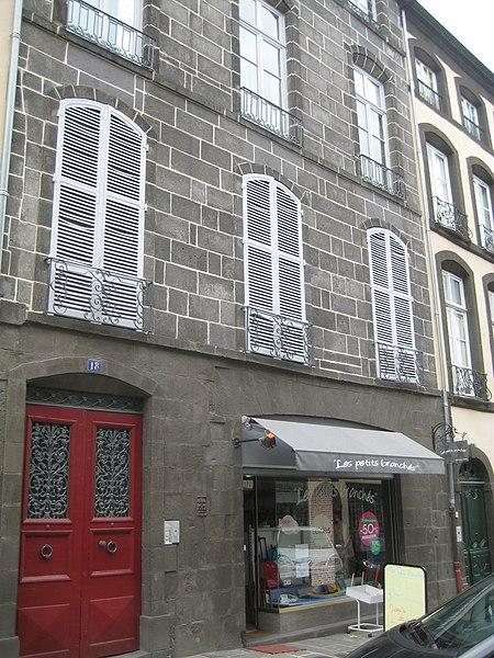 Photo du Monument Historique Hôtel Louis de la Brosse situé à Riom