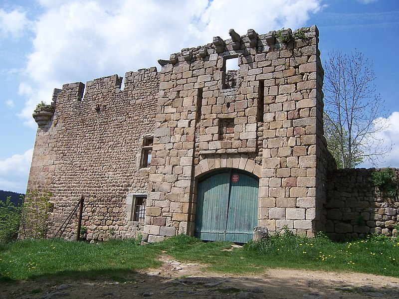 Photo du Monument Historique Château fort situé à Viverols