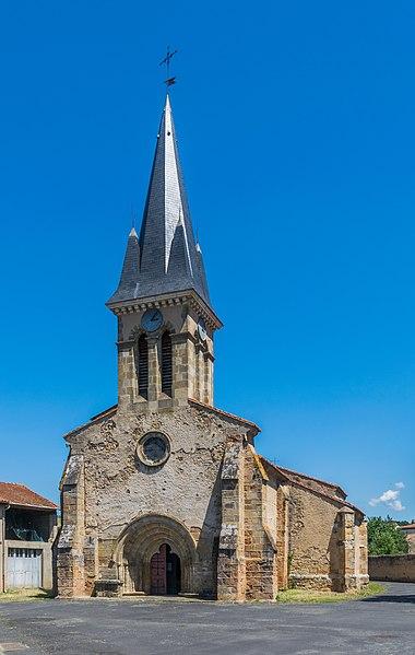 Photo du Monument Historique Eglise paroissiale Saint-Rémy situé à Saint-Rémy-de-Chargnat