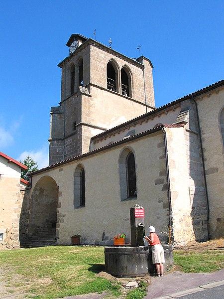 Photo du Monument Historique Eglise Saint-Sébastien situé à Champétières