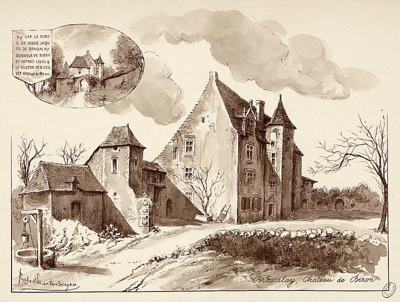 Photo du Monument Historique Château de Brassalay situé à Biron