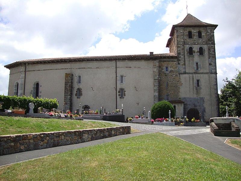Photo du Monument Historique Eglise Saint-Etienne situé à Espelette