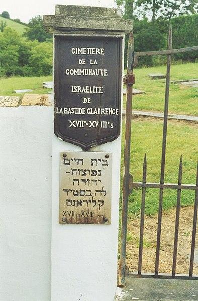 Photo du Monument Historique Ancien cimetière juif situé à La Bastide-Clairence