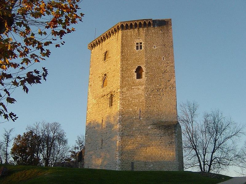 Photo du Monument Historique Vestiges du château Moncade situé à Orthez