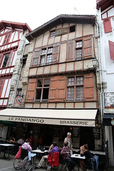 Photo du Monument Historique Maison dite des Pigeons blancs situé à Saint-Jean-de-Luz