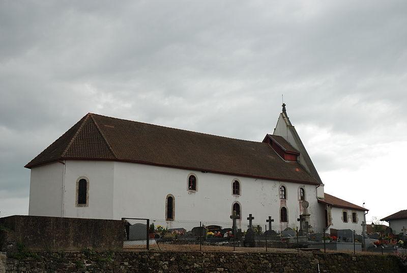 Photo du Monument Historique Eglise Saint-Jean Baptiste situé à Villefranque