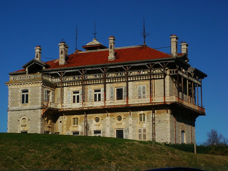 Photo du Monument Historique Château d'Ilbarritz situé à Bidart