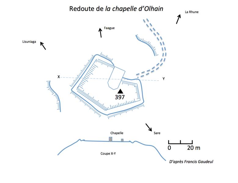 Photo du Monument Historique Redoute de la chapelle d'Olhain situé à Sare