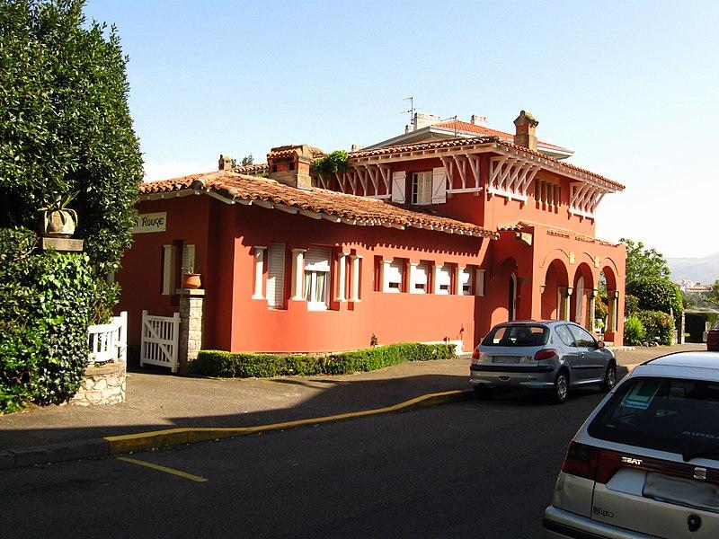 Photo du Monument Historique Villa dite Maison Rouge situé à Hendaye