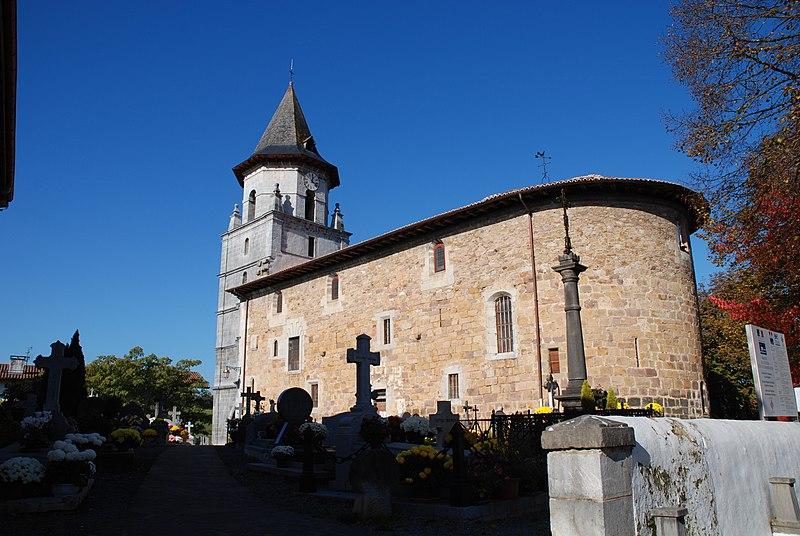 Photo du Monument Historique Eglise Notre-Dame de l'Assomption situé à Ainhoa