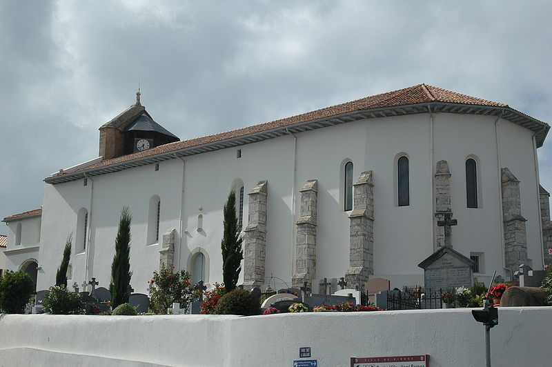 Photo du Monument Historique Eglise Notre-Dame de l'Assomption situé à Bidart