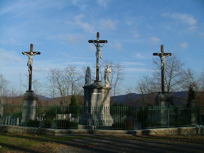 Photo du Monument Historique Calvaire et chemin de croix extérieur situé à Lestelle-Bétharram