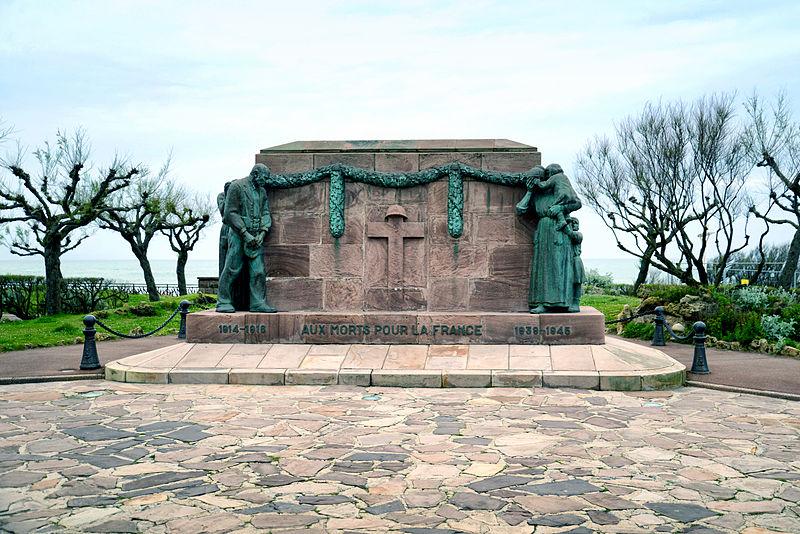 Photo du Monument Historique Monument aux morts de la guerre 1914-1918 situé à Biarritz