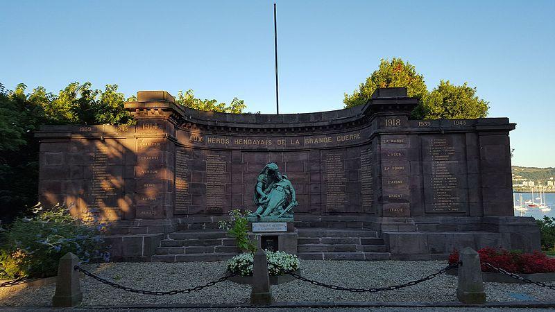 Photo du Monument Historique Monument aux morts de la guerre 1914-1918 situé à Hendaye