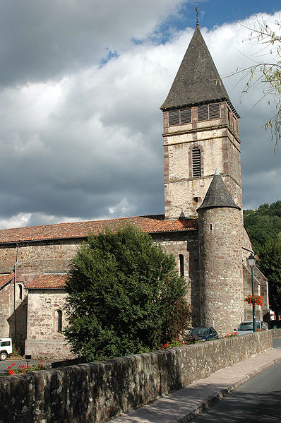 Photo du Monument Historique Eglise Saint-Etienne situé à Saint-Etienne-de-Baïgorry